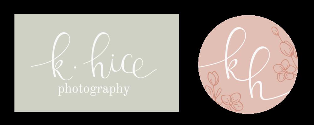 K.Hice Photography - Logo & Branding by Bea & Bloom Creative Design Studio
