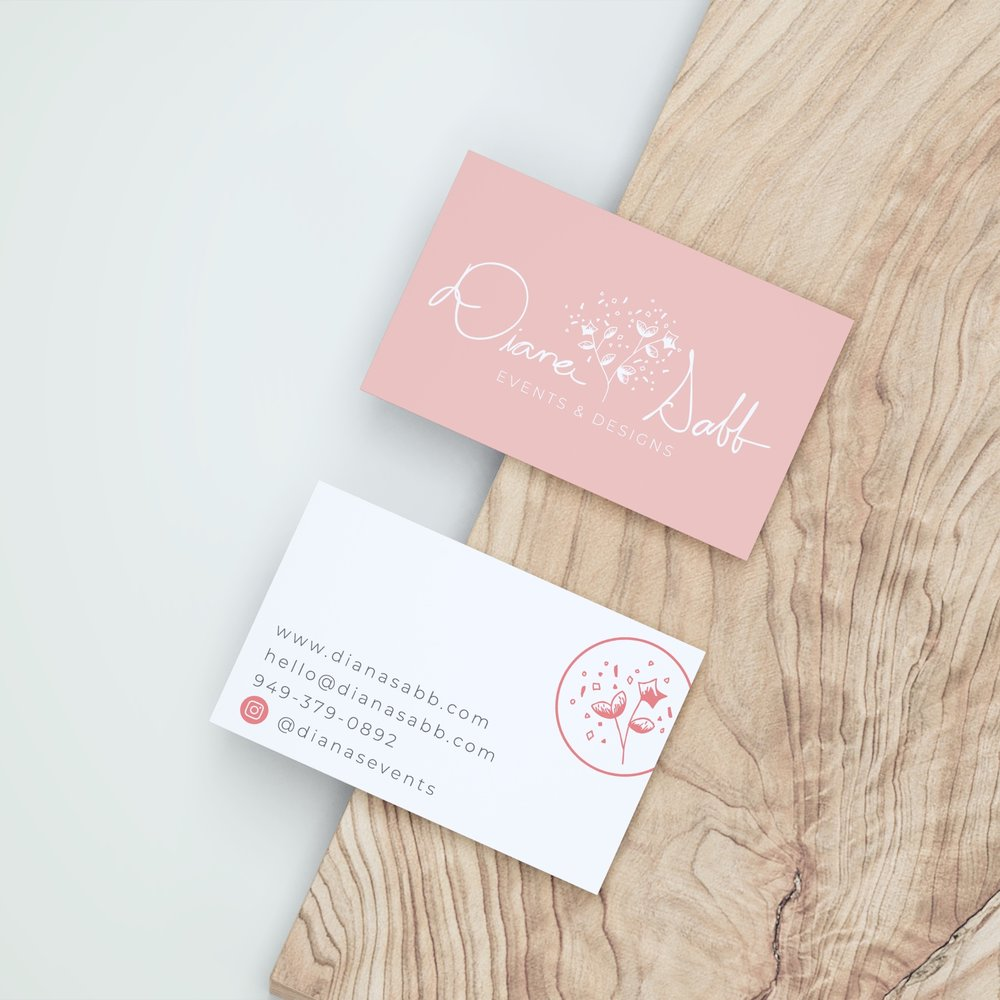 Diana Sabb Business Card Logo & Branding by Bea & Bloom Creative Design Studio