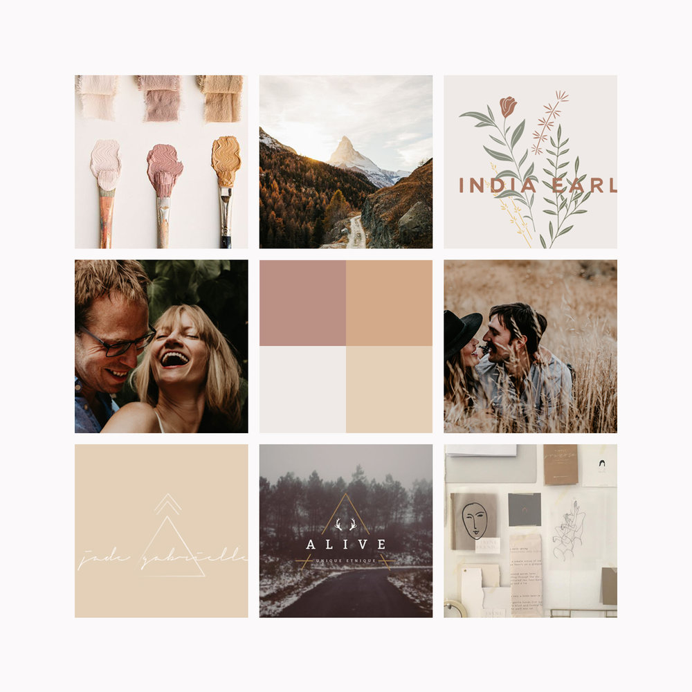 Vanessa Jaclyn Photography Logo & Branding by Bea & Bloom Creative Design Studio Mood board
