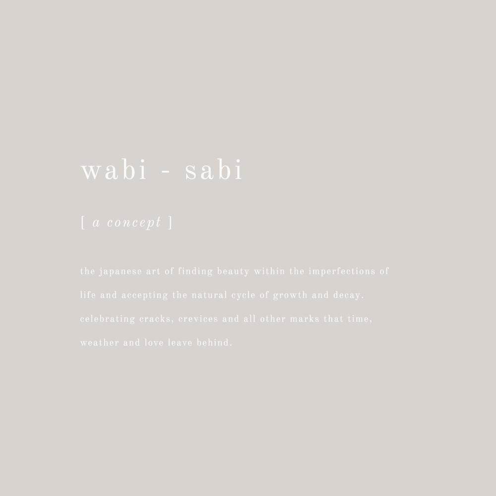 Wabi Sabi Definition - Inspirational Life Quote - Bea & Bloom Creative Design Studio