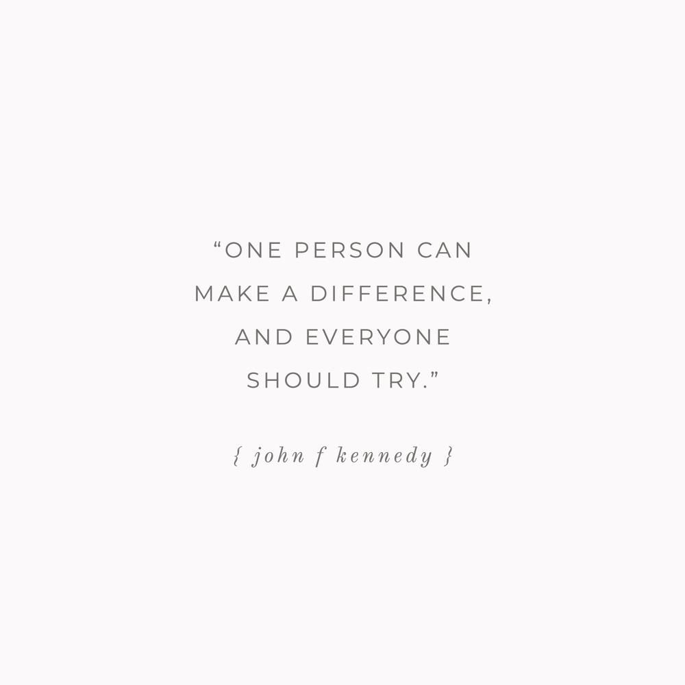 John F Kennedy Quote - Bea & Bloom Creative Design Studio