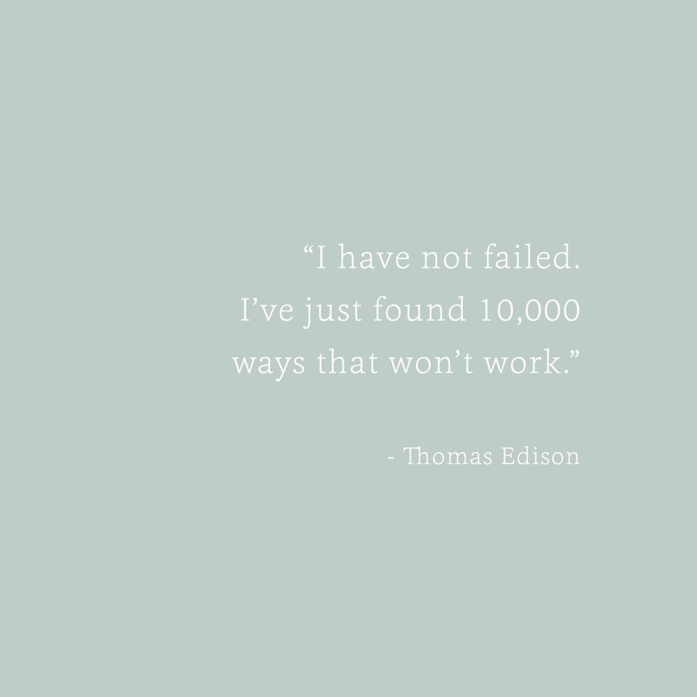 Thomas Edison Quote - Bea & Bloom Creative Design Studio