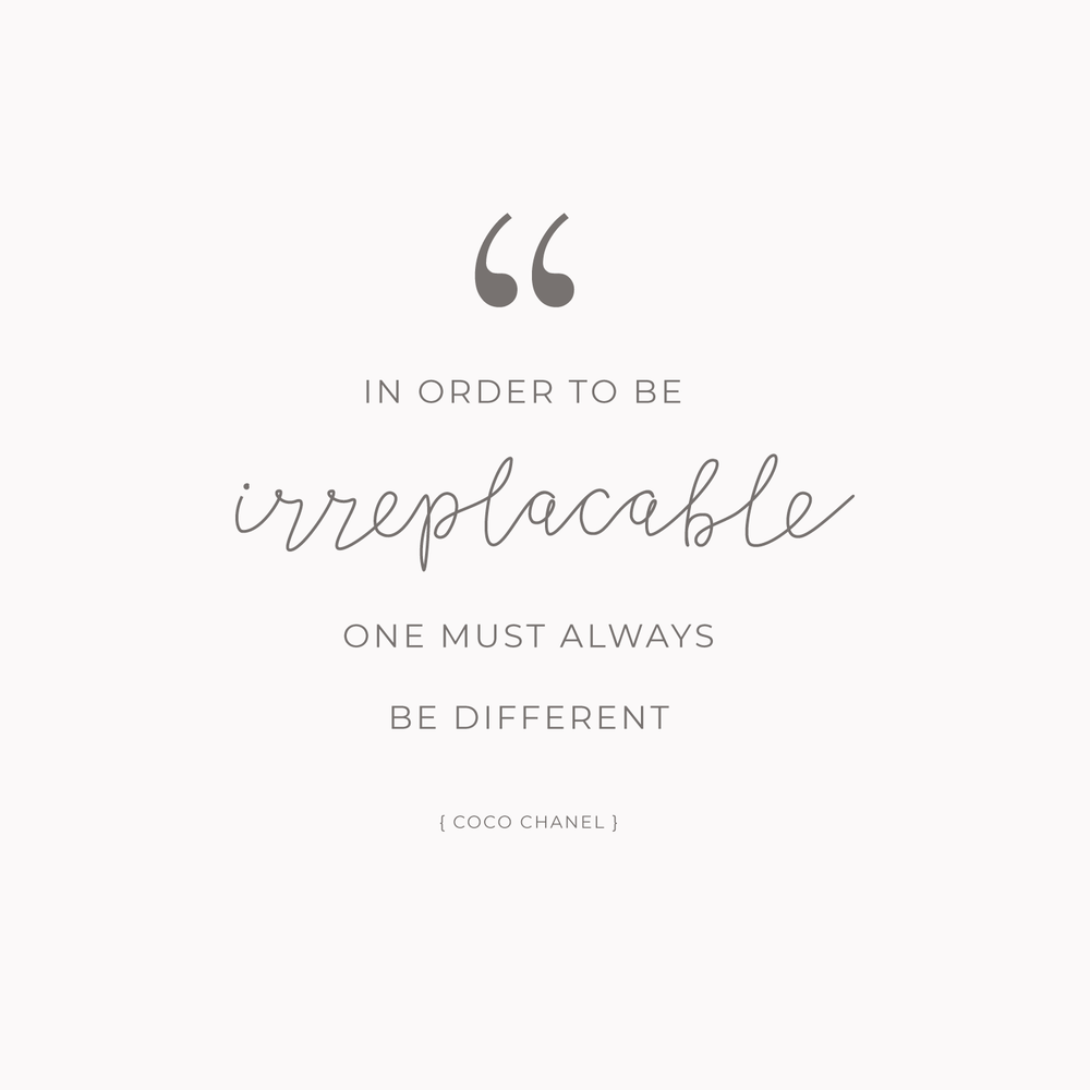 Coco Chanel Quote - Inspirational Quotes from Strong Women - Bea & Bloom Creative Design Studio