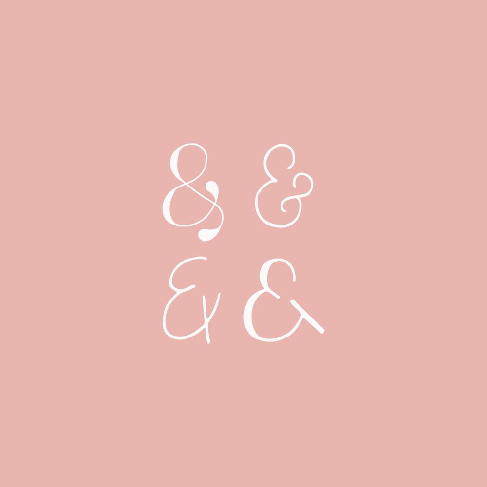 Ampersand logo design - Bea & Bloom Creative Design Studio