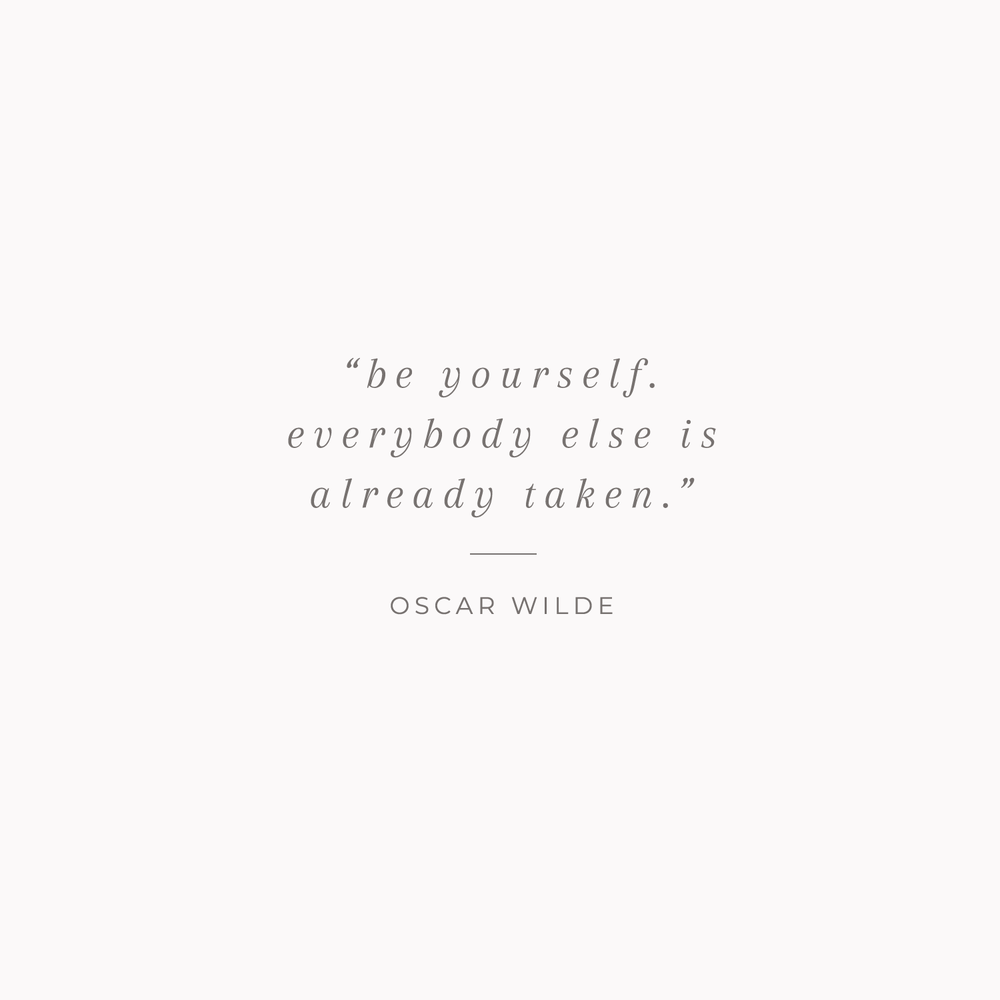 Oscar Wilde quote - 10 Encouraging Quotes about being yourself - Bea & Bloom Creative Design Studio
