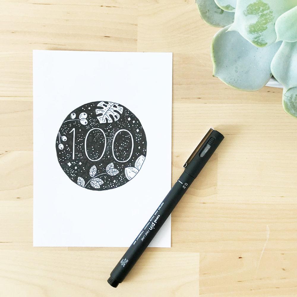 Sketchbook Illustration - the100dayproject - Bea & Bloom Creative Design Studio