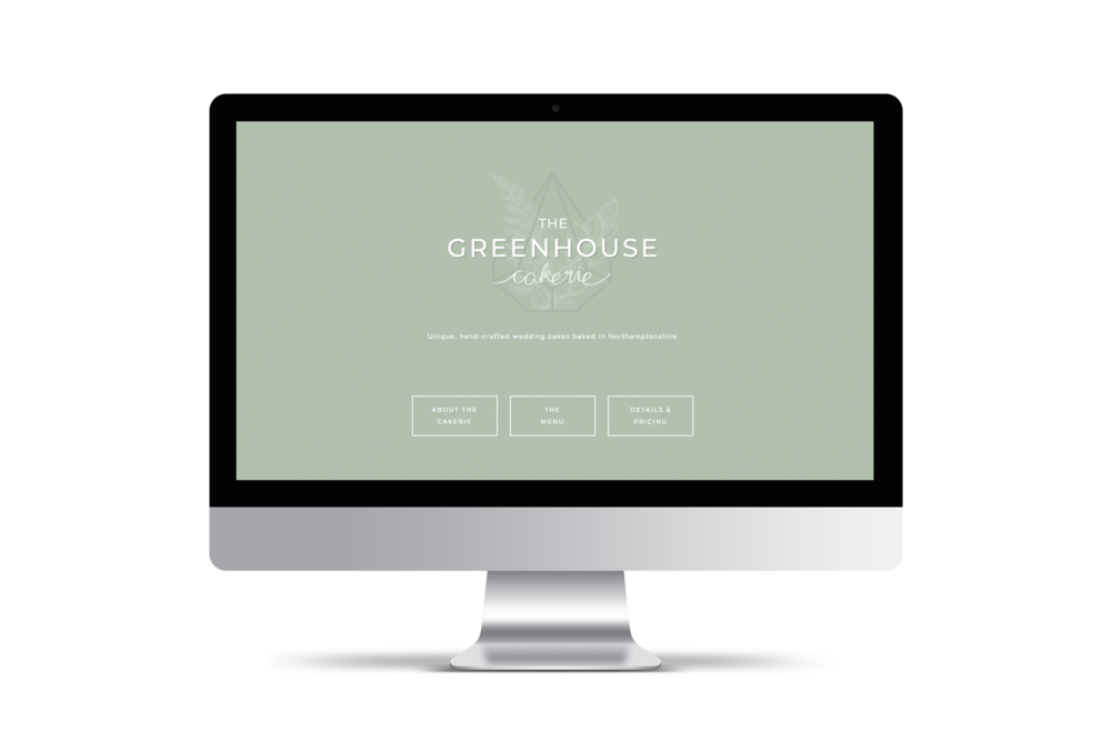 iMac.pngThe Greenhouse Cakerie - Logo & Brand Design by Bea & Bloom Creative Design Studio