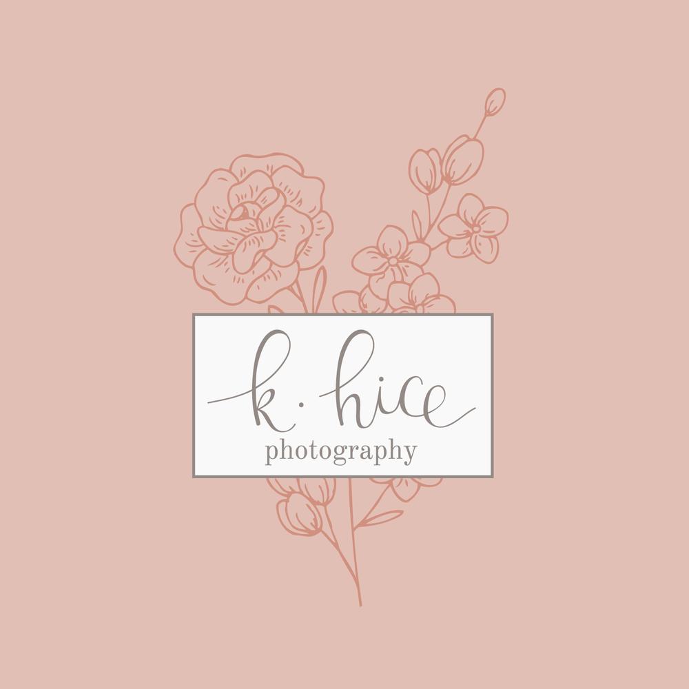 Bea & Bloom Creative Design Studio - Logo Design for K. Hice Photography