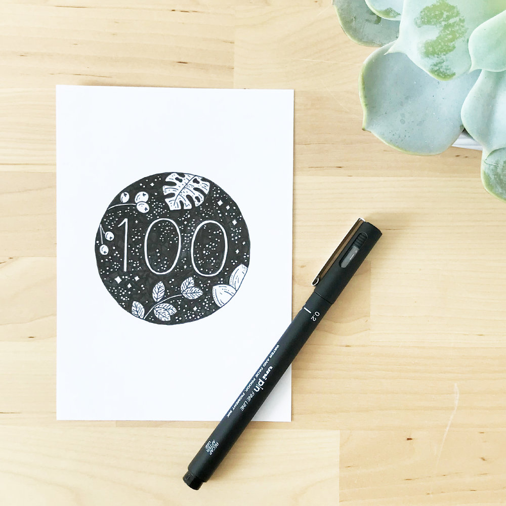 Bea & Bloom Creative Design Studio - The 100 Day Project