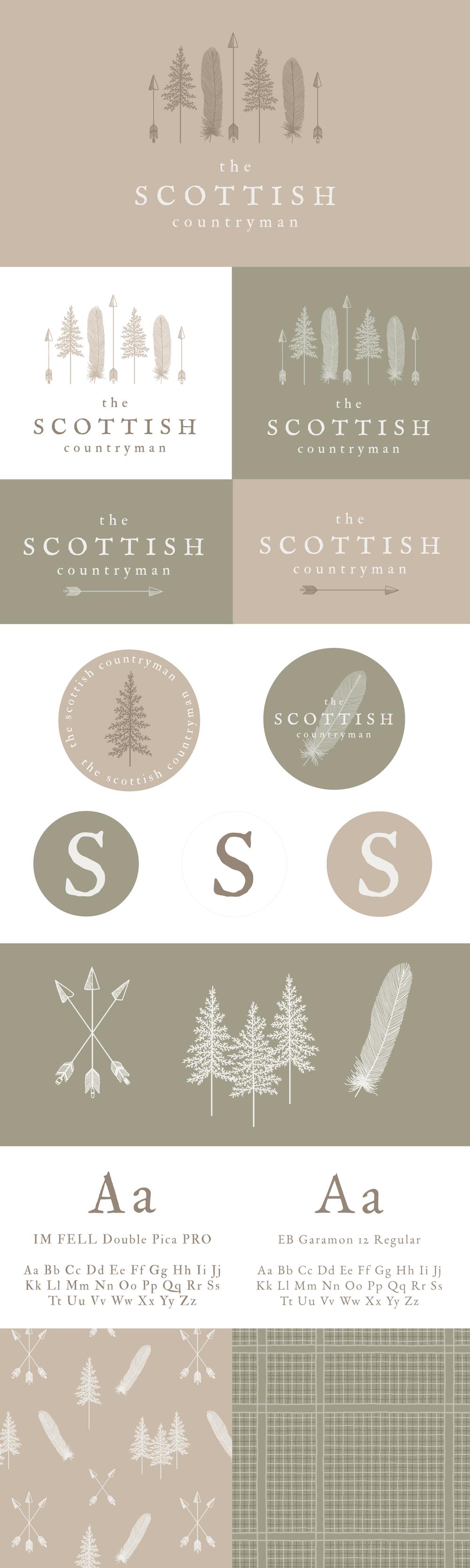 The Scottish Countryman - Logo & Branding by Bea & Bloom Creative Design Studio