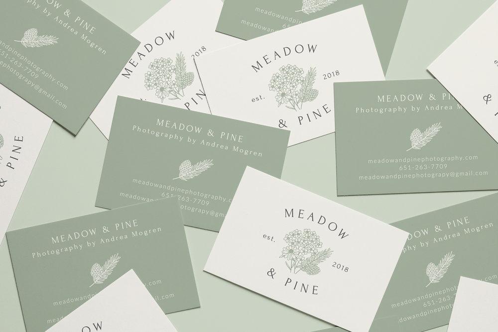 Meadow & Pine - Logo & Branding Design by Bea & Bloom Creative Design Studio