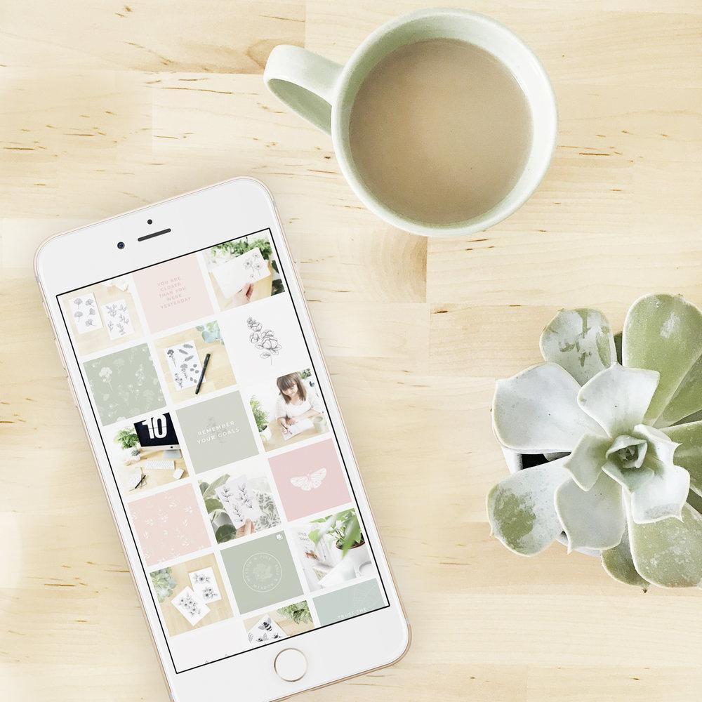How to create a cohesive Instagram feed - Bea & Bloom Creative Design Studio