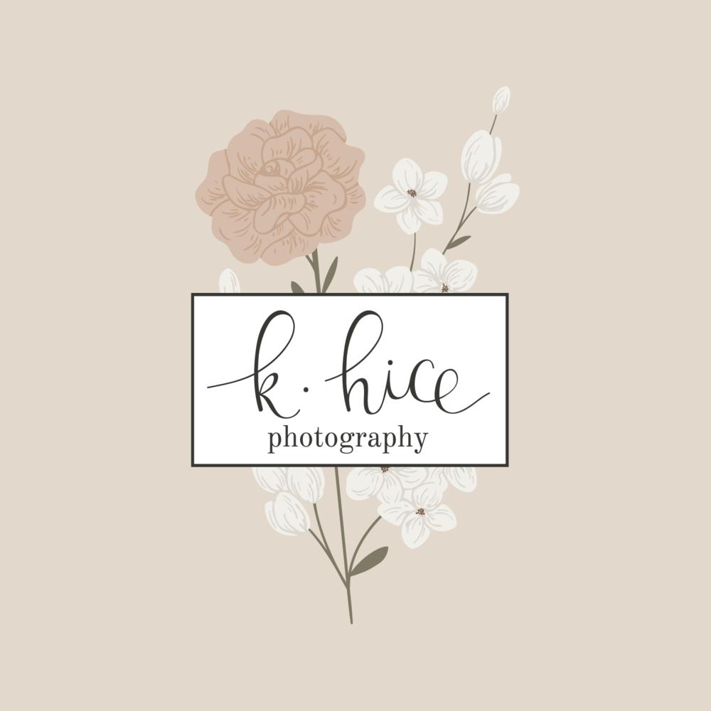 K Hice Photography Logo & Branding by Bea & Bloom Creative Design Studio