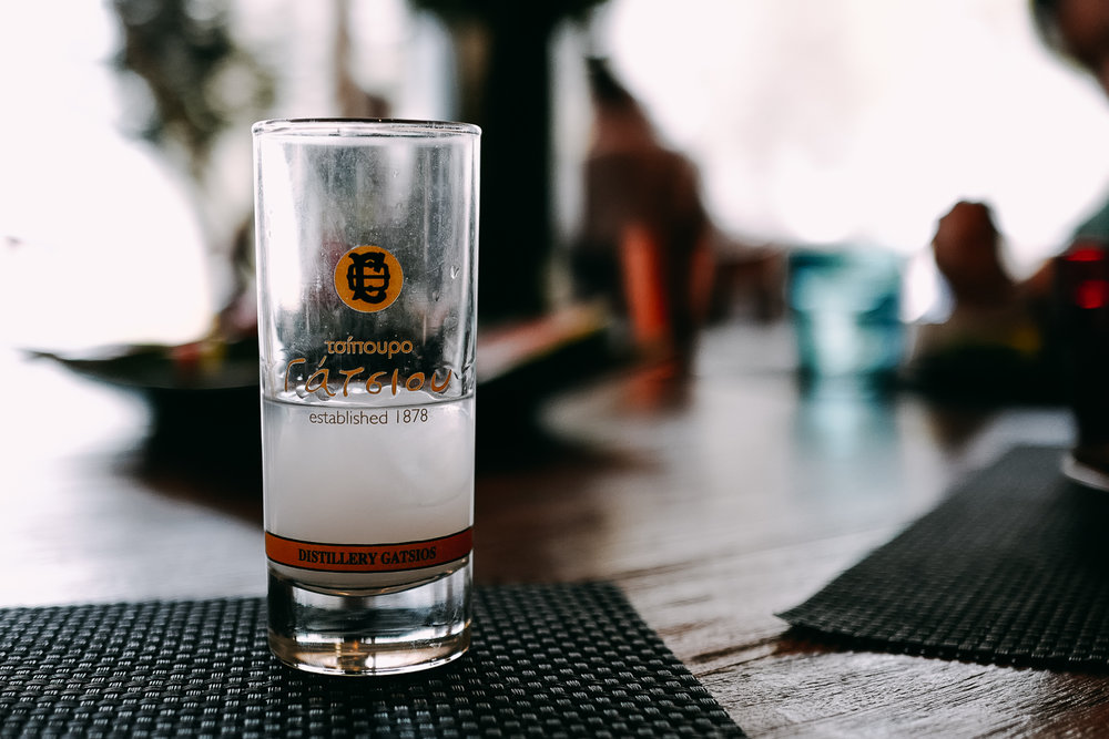 Ouzo, a signature Greek spirit.