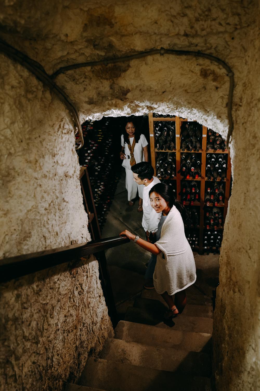 Wine cellar tour!