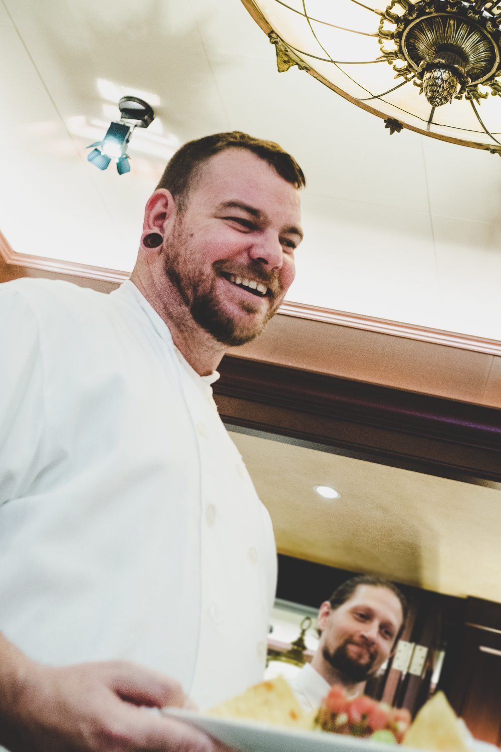 Chef Dan Billo personally serving us with a huge smile!