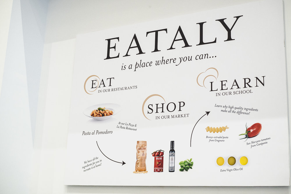 Eataly Boston is located in the Prudential Center on 800 Boylston St.