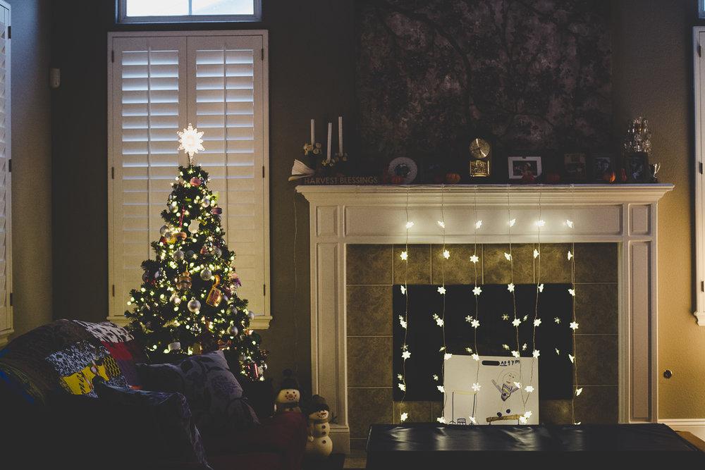 Festive home.