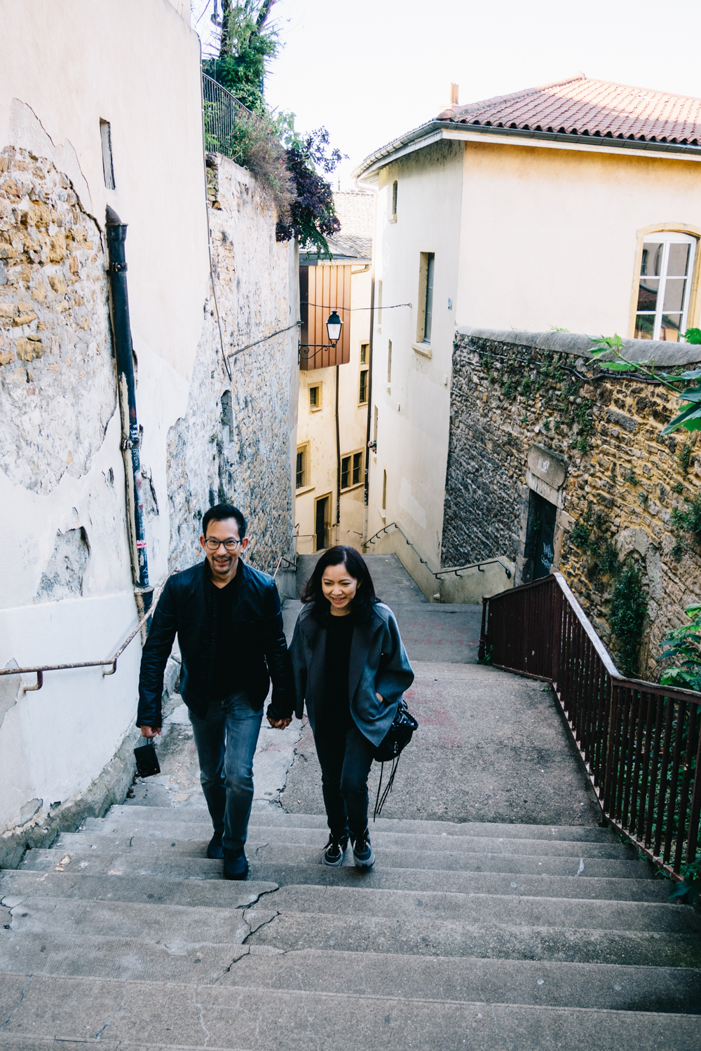 Favorite couple exploring Lyon <3