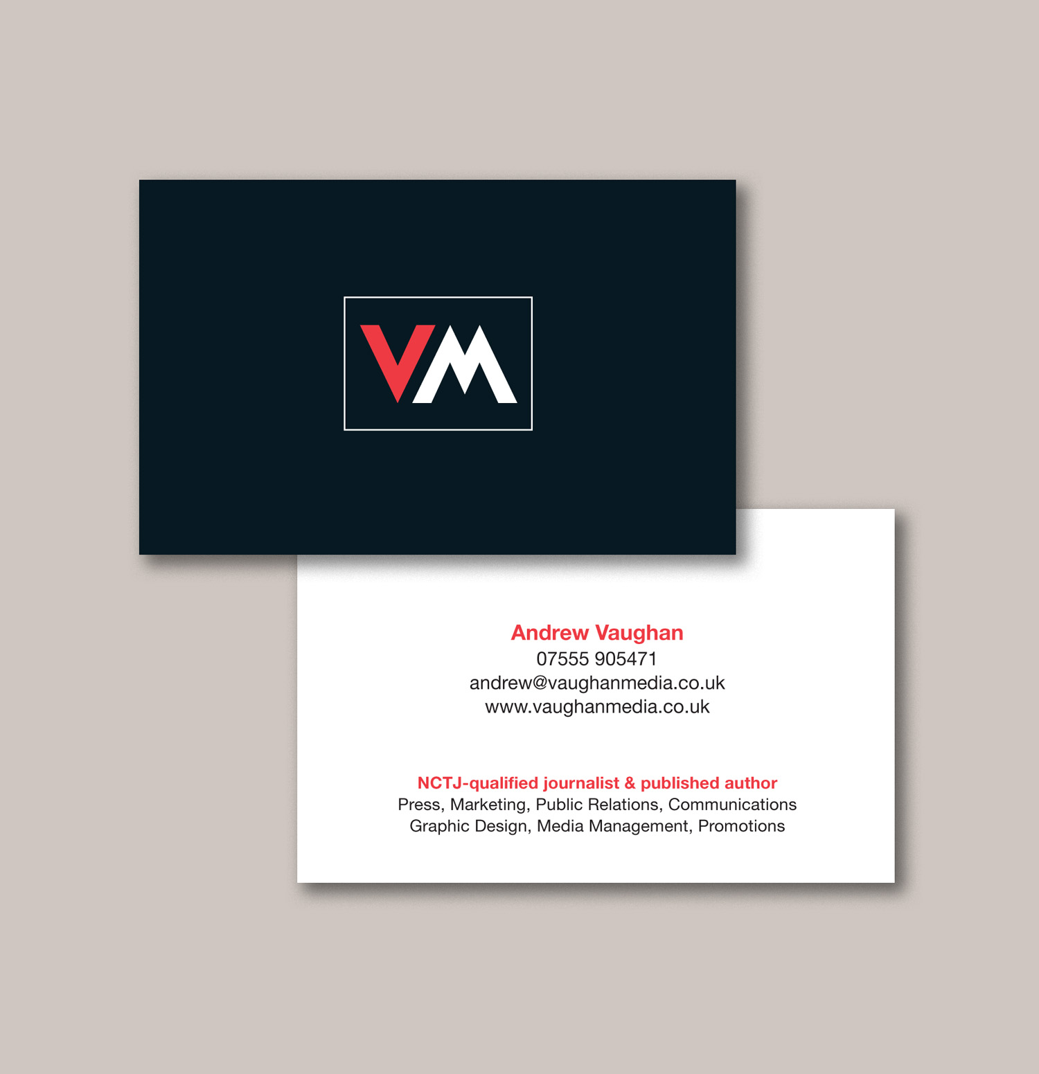 Public Relations Specialist Business Cards