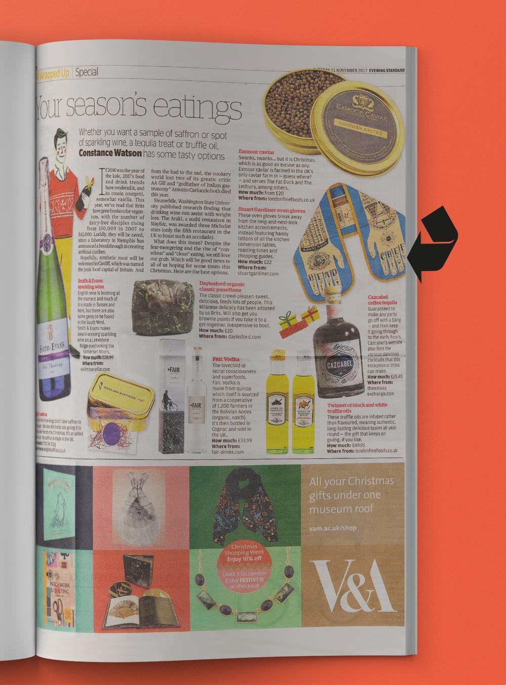 @stuartgardinerdesign in The Evening Standard - PR Dispatch