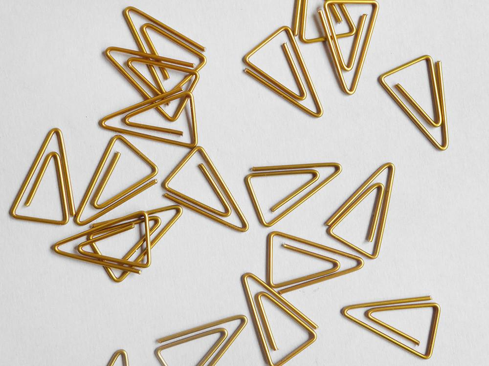 Triangle Paperclips  - £6.50
