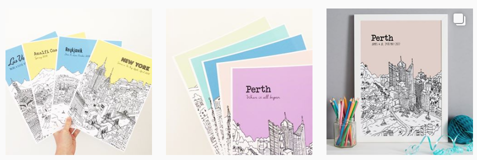 We love anything personalised, and these city illustrations hit the spot! Chose your location and see it transformed into a bright print, perfect for any home.
