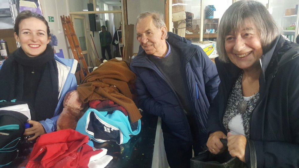 My amazing grandparents who brought a whole suitcase full of winter clothes and stuffed animals to Belgrade