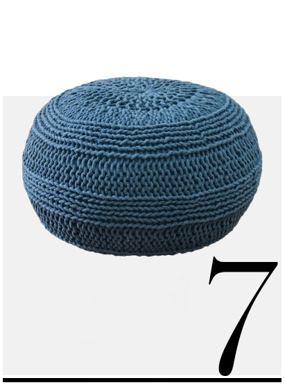Nordstorm-Woven-Pouf-blue-room-decor-ideas-top-ten