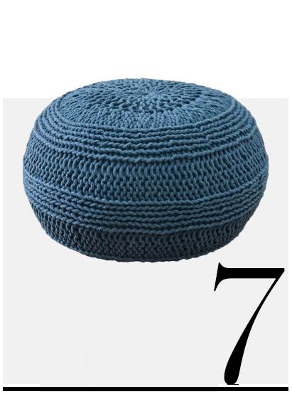 Nordstorm-Woven-Pouf-blue-room-decor-ideas-top-ten