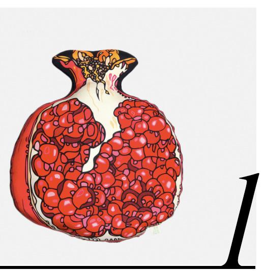 Pomegranate-Silk-Shaped-Cushion-Silken-Favors-red-room-decor-ideas