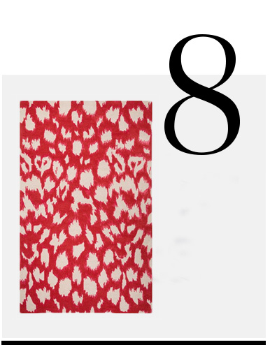 Kate-Spade-New-York-Gramercy-Animal-Print-Rug-red-room-decor-ideas