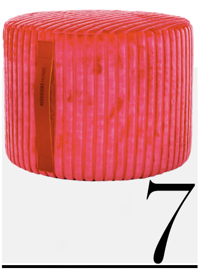 Missoni-Home-Coomba-Pouf-pink-home-improvement-ideas-10-hot-pink-home-accessories