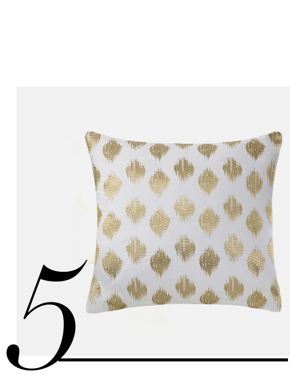 Nadia-Dot-Metallic-Gold-Embroidery-Pillow-Designer-Living-home-improvement-ideas-white-and-gold-home-decor-accessories
