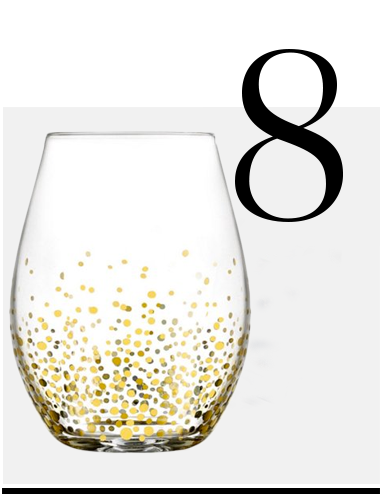 Gold Luster Stemless Glasses Set Of 4