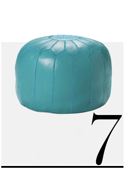Moroccan Leather Pouf Serena And Lilly Home Improvement