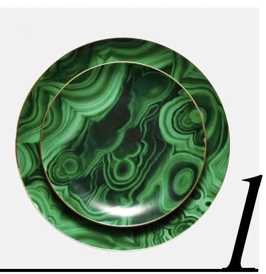 Malachite-24K-Gold-Trimmed-Porcelain-Dessert-Plates-Set-Of-4-LObjet-interior-design-ideas-color-top-ten-green-home-accessories