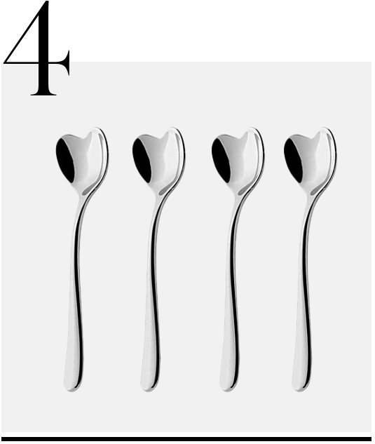 Big-Love-4-piece-spoon-set-Alessi-luxurious-gifts-for-weddings-top-ten-STYLISH-gift-ideas