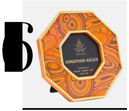 Malachite-Picture-Frame-Jonathan-Adler-home-improvement-orange-home-decor-accessories-ideas