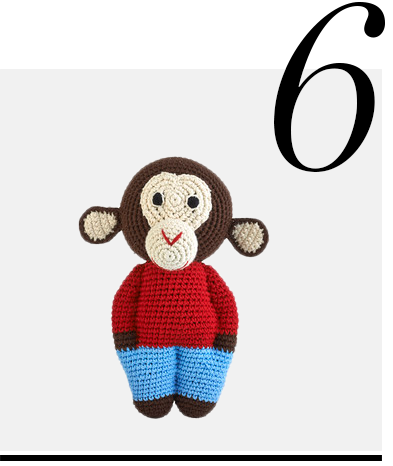 Crochet-Midi-Chimp-Chocolate-Anne-Claire-Petit-luxurious-gifts-for-babies-top-ten-STYLISH-gift-ideas