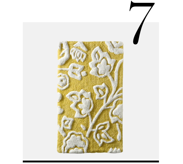 Floral-Bath-Rug-Yellow-Threshold-top-10-bath-mats-home-improvement-ideas-bathroom