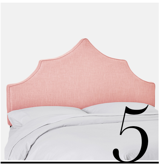 Camille-Headboard-Pink-Linen-One-Kings-Lane-pale-pink-room-inspiration-decor