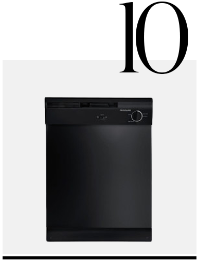 Built-In-Dishwasher-with-Delay-Wash-Frigidaire-top-10-black-colored-kitchen-accessories-home-decor-ideas-kitchen