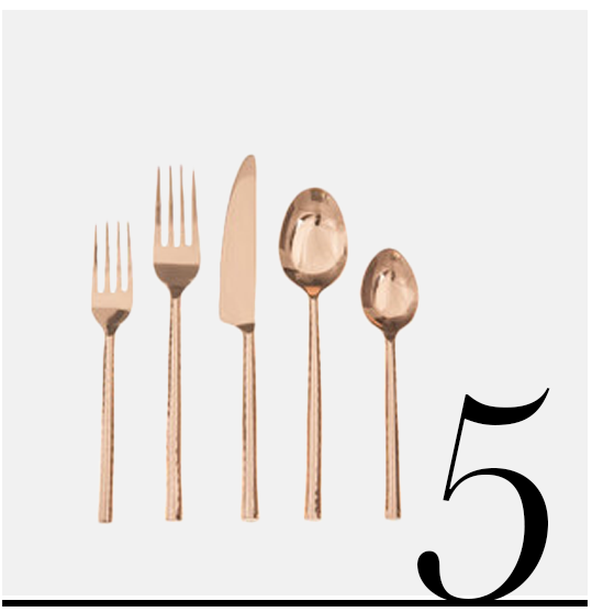 Quarry-Flatware-Set-David-Shaw-Silverware-top-10-copper-colored-kitchen-accessories-home-decor-ideas-kitchen