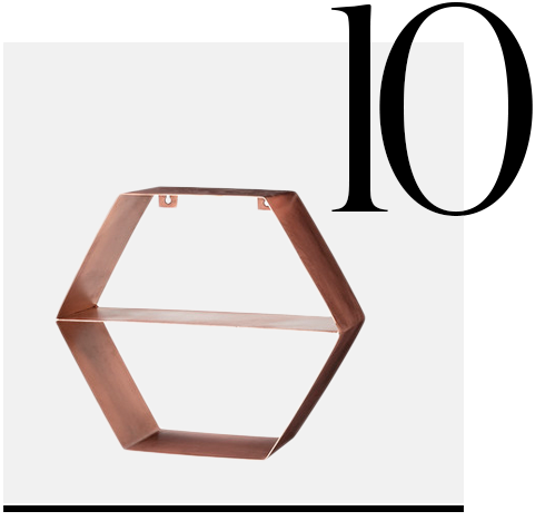 Copper-Hexagonal-Shelf-Bloomingville-top-10-copper-colored-kitchen-accessories-home-decor-ideas-kitchen
