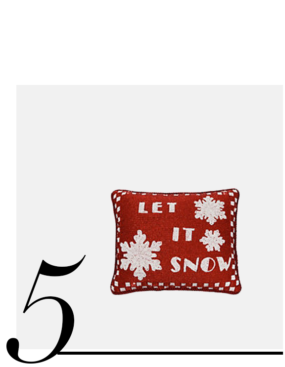 Beaded-Velvet-Let-It-Snow-Decorative-Pillow-Sudha-Pennathur-top-10-holiday-decorations-red