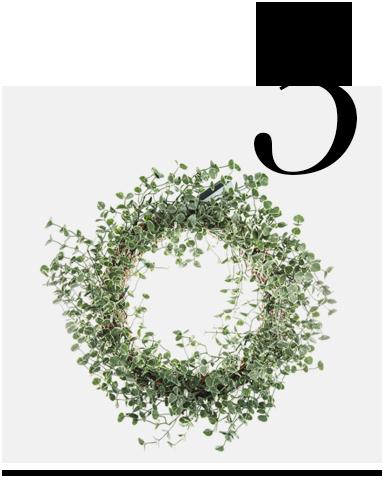 Frosted-Eucalyptus-LED-Wreath-Gisela-Graham-top-10-holiday-decorations-minimalist