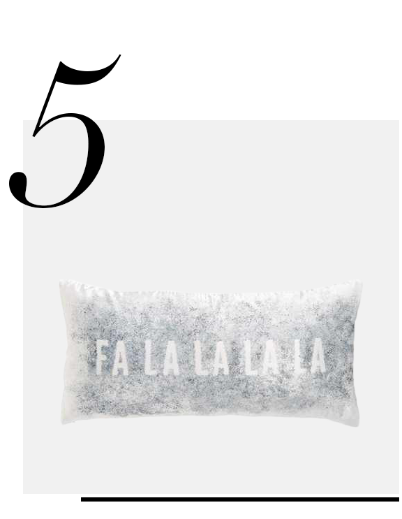 NORDSTROM-AT-HOME-Fa-La-La-Pillow-top-10-holiday-decorations-minimalist
