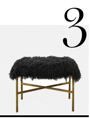 krosbar-24-sheepskin-bench-dark-gray-One-Kings-Lane-top-10-bedroom-chairs-home-improvement-ideas