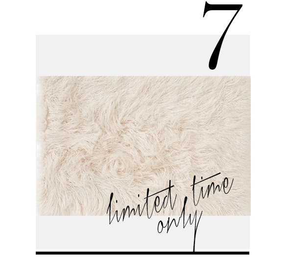 Nordstrom at Home 'Mongolian' Faux Fur Area Rug